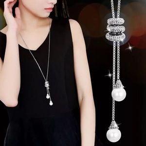 long necklace Pendant pearls